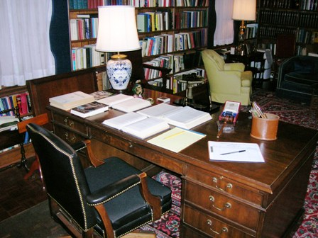 A view from behind Senator Sam Ervin's home office desk