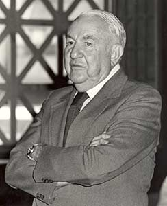 Photo of Senator Sam Ervin in a suit at Drexel University