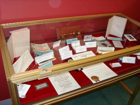 The Sam Ervin Library has a display of presidential memorabilia associated with the Senator's time in Washington.