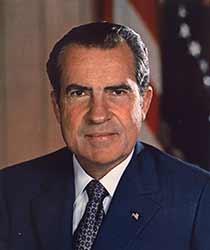Photo of President Richard Nixon