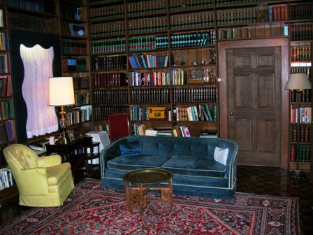 Photo of the Interior of Sam Ervin's Home Library, recreated at WPCC