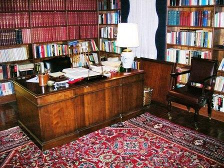 Photo of Sam Ervin's home library desk