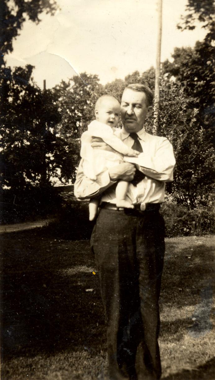 Sam Ervin with Infant